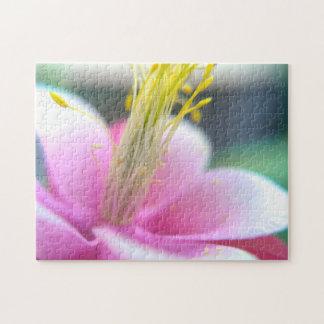 Tilted Pink Flower Puzzle