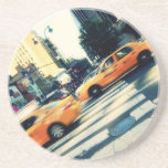 Tilted Taxis NYC Beverage Coaster