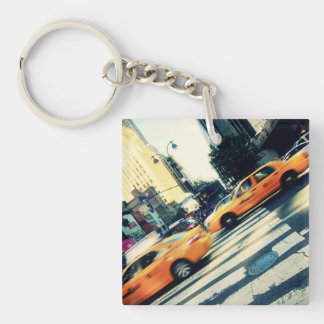Tilted Taxis NYC Keychain