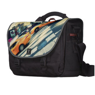 Tilted Taxis NYC Laptop Bag