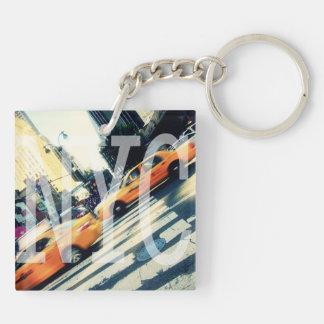 Tilted Taxis NYC Logo Acrylic Keychain