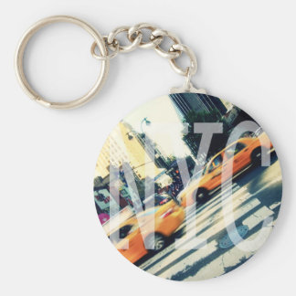 Tilted Taxis NYC Logo Button Keychain