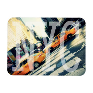 Tilted Taxis NYC Logo Premium Magnet
