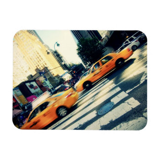 Tilted Taxis NYC Magnet