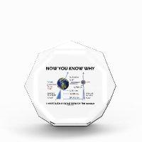 Tilted View Of The World (Orbital Variation) Acrylic Award
