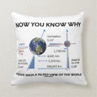 Tilted View Of The World (Orbital Variation) Throw Pillow