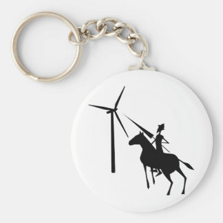 Tilting at Turbines Keychain