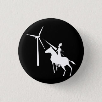 Tilting at Turbines Pinback Button