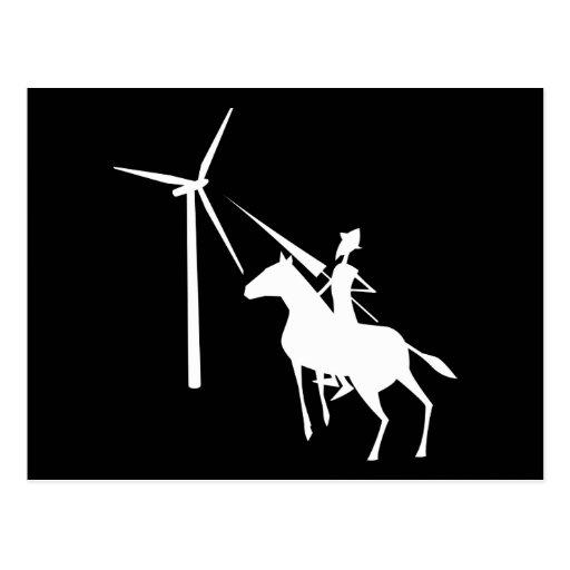 Tilting at Turbines Post Card