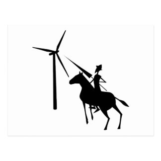 Tilting at Turbines Postcard