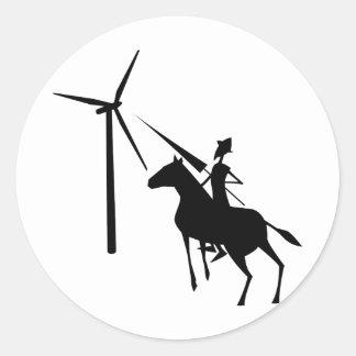 Tilting at Turbines Sticker