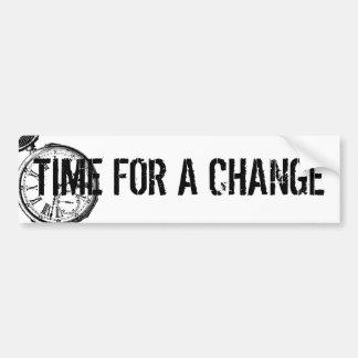 Tilting Clock Pocket Watch Face Timepiece Car Bumper Sticker