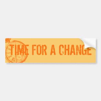 Tilting Clock Pocket Watch Face Timepiece Bumper Sticker