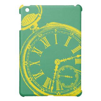 Tilting Clock Pocket Watch Face Timepiece iPad Mini Cases