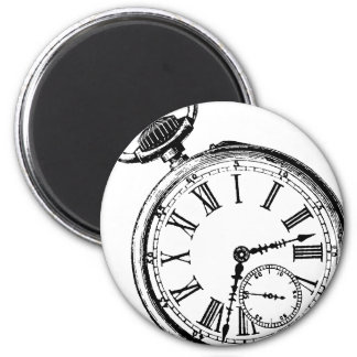 Tilting Clock Pocket Watch Face Timepiece Magnet