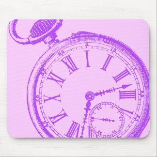 Tilting Clock Pocket Watch Face Timepiece Mouse Pad