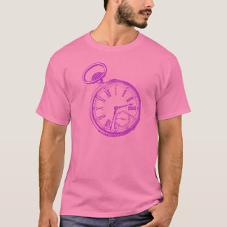 Tilting Clock Pocket Watch Face Timepiece T-Shirt