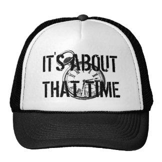 Tilting Clock Pocket Watch Face Timepiece Trucker Hat