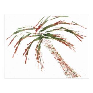 Tilting Palm Postcard
