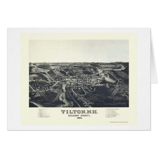 Tilton, mapa panorámico del NH - 1884 Tarjeta De Felicitación