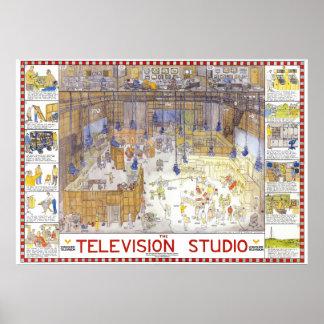 Tim Hunkin's TV studio poster
