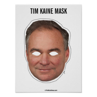 Tim Kaine Mask Cutout Poster