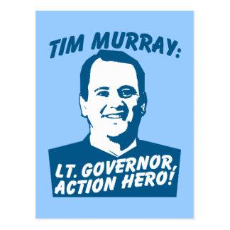 Tim Murray Action Hero Postcard