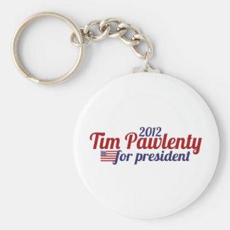 Tim pawlenty 2012 basic round button keychain