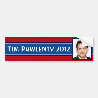 Tim Pawlenty 2012 Car Bumper Sticker