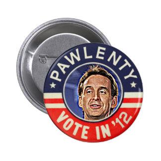 Tim Pawlenty 2012 button