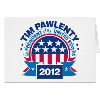 Tim Pawlenty for President 2012 Card