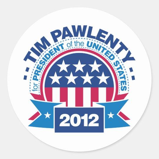 Tim Pawlenty for President 2012 Classic Round Sticker