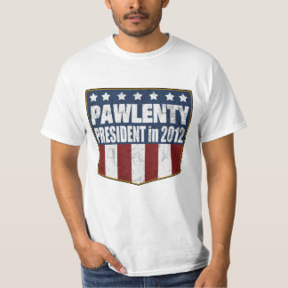 Tim Pawlenty for President in 2012 (distressed) T-shirt