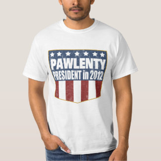 Tim Pawlenty for President in 2012 T-shirt