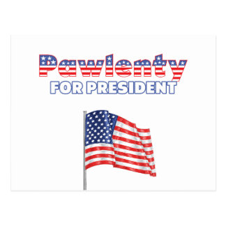 Tim Pawlenty for President Patriotic American Flag Postcard