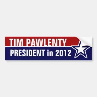 Tim Pawlenty in 2012 Car Bumper Sticker