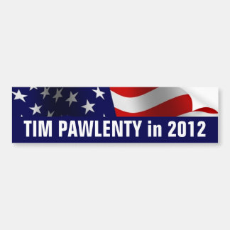 Tim Pawlenty in 2012  Bumper Sticker Car Bumper Sticker