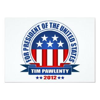 """Tim Pawlenty Invitación 5"""" X 7"""""""