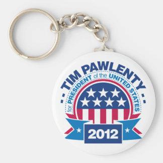 Tim Pawlenty para el presidente 2012 Llavero Redondo Tipo Pin