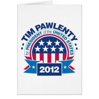 Tim Pawlenty para el presidente 2012 Tarjetón