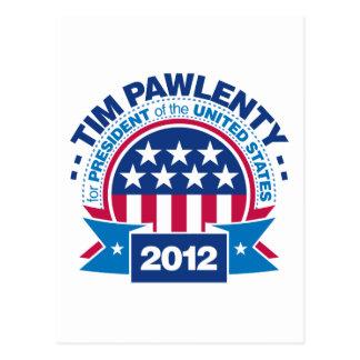 Tim Pawlenty para el presidente 2012 Postal