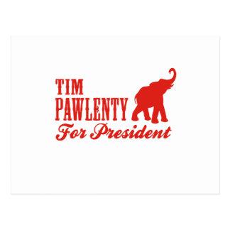 TIM PAWLENTY PARA EL PRESIDENTE (GOP) POSTAL