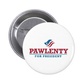 Tim Pawlenty para el presidente Pin Redondo De 2 Pulgadas