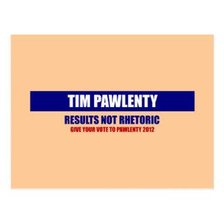 Tim Pawlenty resulta no retórico Postales
