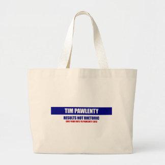 Tim Pawlenty Results Not Rhetoric Tote Bag