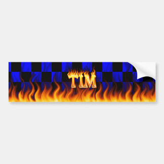 Tim real fire and flames bumper sticker design.