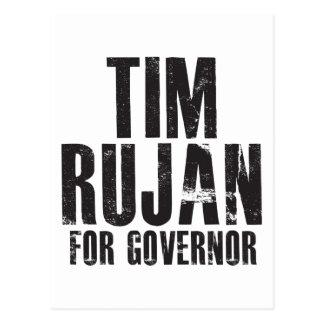 Tim Rujan For Governor 2010 Postcard