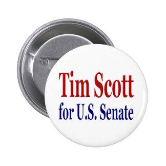 Tim Scott para el botón del senado Pin