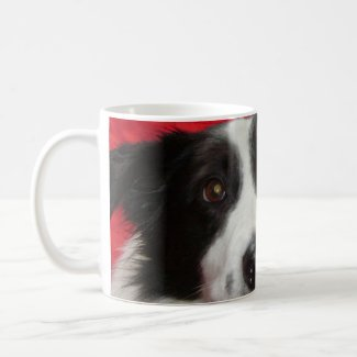 Tim the Border Collie Classic White Coffee Mug