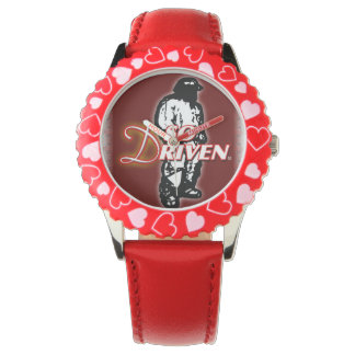 TIMapparel Red leather Watch